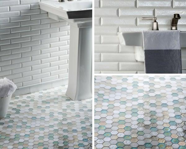 in stock bathroom tile hexagon floor tile