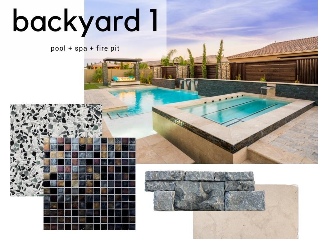Modern Backyard Pool Spa Design