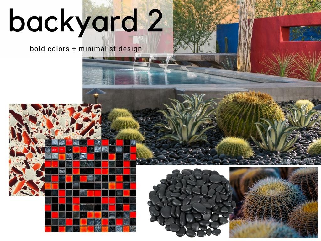 Contemporary Minimalist Backyard Pool Design