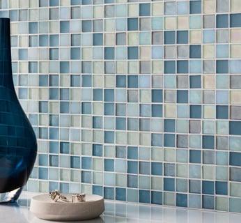blue-tile, glass-tile, tile-backsplash, bathroom-tile, kitchen-tile, custom-tile, interior-design, pool-tile, tile-design