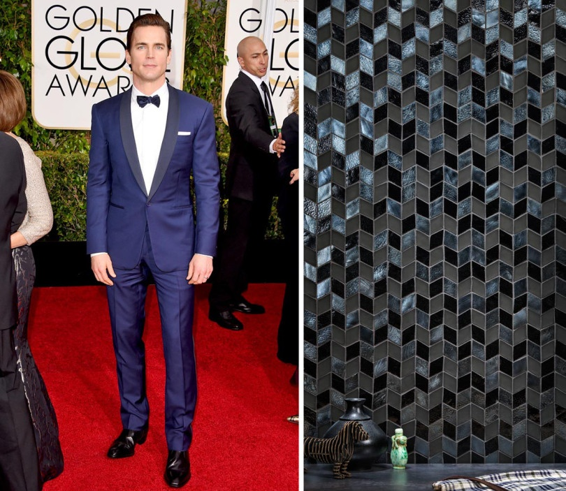 Matt Bomer is the epitome of dapper in his Ralph Lauren Black Label suit. We dreamed he'd deck his space out in this custom blend Perspectives pattern (using colors Shadow Irid, Shadow Matte and Black Non-Irid)