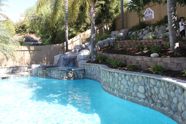 Pool will be receiving a face lift with a beautiful blend of sparkling blue glass tile.