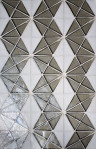 """Tessera Collection - Kaleidoscope Specific Placement  """"i"""" using Platinum and White."""