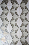 """Tessera Collection - Kaleidoscope Specific Placement """"B"""" using Platinum, White and Oxygen"""