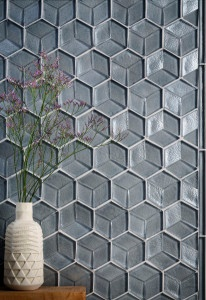 glass tile, tile, interior design, tozen tile,, feature wall, backsplash tile, hexagon tile, Agate tile, Martini blend, dimensional tile, bathroom tile, kitchen tile, home remodel, design, home decor, Lundada Bay Tile,