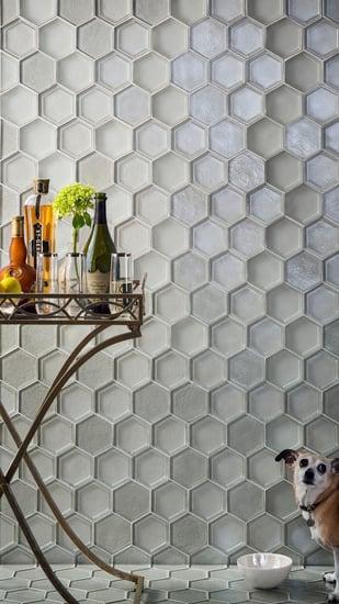 glass tile, tile, interior design, tozen tile, feature wall, backsplash tile, hexagon tile, Agate tile, Martini glass tile, dimensional tile, bathroom tile, kitchen tile, home remodel, design, home decor, Lunada Bay Tile